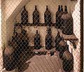 Imola, palazzo tozzoni, cantine, bottiglioni di vino dal 1845 al 1910, 03.jpg