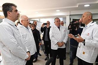 Sanmina Corporation - The President of Israel, Reuven Rivlin, visiting Sanmina Corporation factory in Ma'alot-Tarshiha, Israel, February 2018