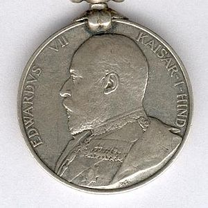 India General Service Medal (1909) - Image: India General Service Medal 1909 Edward 7