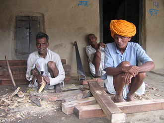 Carpentry - Carpenters in an Indian village