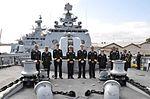 Indian and Australian naval officers on board INS Satpura in 2015.JPG