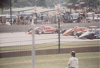1985 Indianapolis 500 - Image: Indy 5001985frontrow