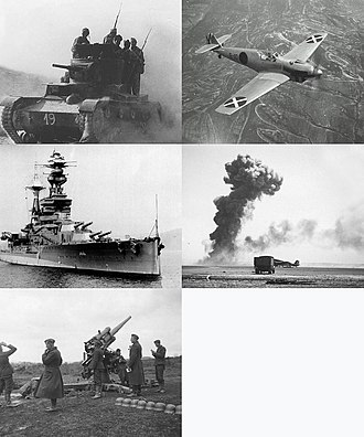 Spanish Civil War - Image: Infobox collage for Spanish Civil War