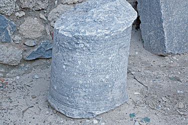 Inscribed artifact outside acropolis of Lindos gate 2.jpg