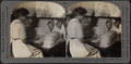Inspecting combed silk. Silk industry (spun silk), South Manchester, Conn., U.S.A, by Keystone View Company.png