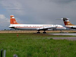 Interflug Ilyushin Il-18V DDR-STA cn 180001905, Leipzig Halle (LEJ - EDDP).JPG