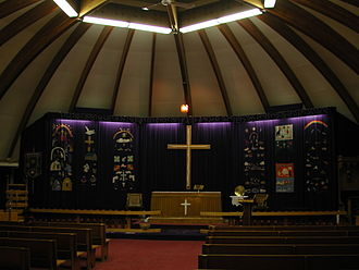 St. Jude's Cathedral (Iqaluit) - Interior of the Old St. Jude's from 2001.