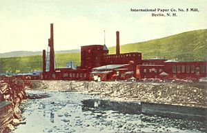 "International Paper - One of the old mills in the former ""mill town"" of Berlin, New Hampshire, owned by the International Paper, c. 1912."