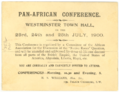 Invitation to Pan-African Conference at Westminster Town Hall July 1900.png