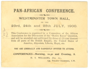 Henry Sylvester-Williams - Invitation to Pan-African Conference at Westminster Town Hall, London, July 1900
