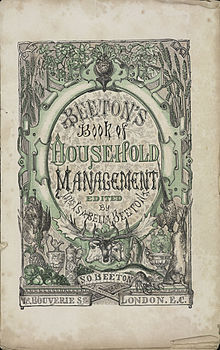 Isabella Beeton - Mrs Beeton's Book of Household Management - title page.jpg