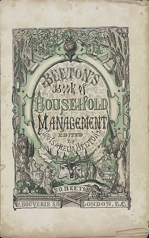 Lunch - Mrs Beeton's Book of Household Management, a guide to all aspects of running a household in Victorian Britain
