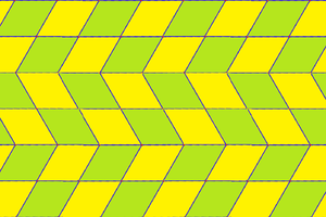 Square tiling - A 2-isohedral variation with rhombic faces