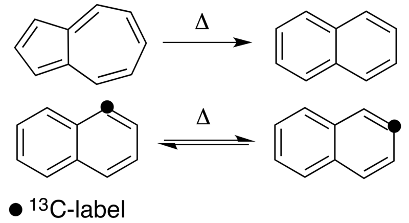 File:Isomerization and Automerization of Azulene and Naphthalene.png