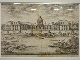 Collège des Quatre-Nations - The Collège des Quatre-Nations. Etching by Israel Silvestre, ca. 1670.