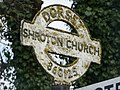 Iwerne Courtney, detail of Main Street signpost - geograph.org.uk - 1752190.jpg