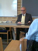 Jürgen Moltmann at Aarhus University on 29 March 2012