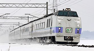 Okhotsk (train) - KiHa 183 series DMU forming an Okhotsk service, January 2009