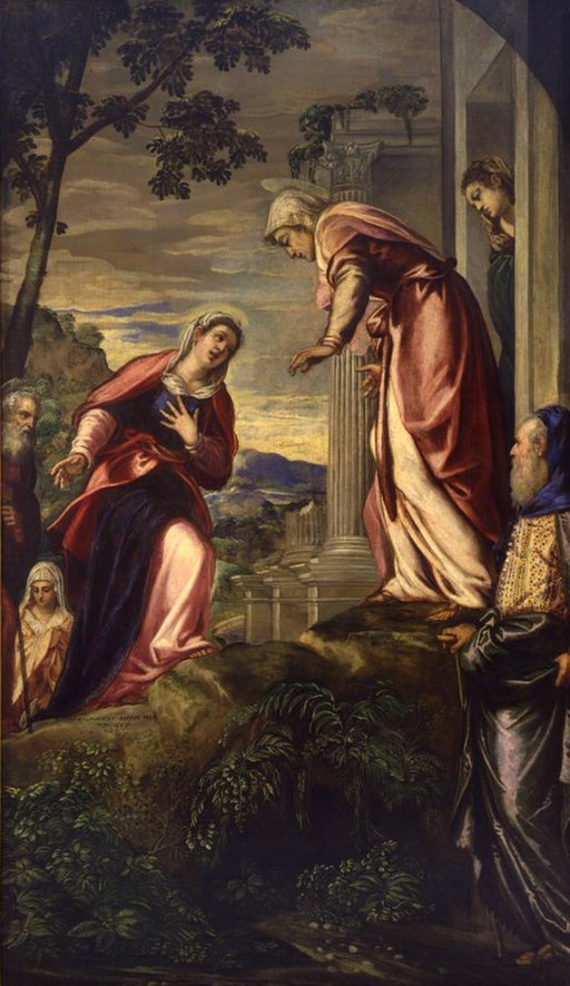 Jacopo Tintoretto - The Visitation (detail) - WGA22432