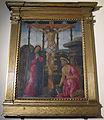Jacopo del sellaio (attr.), Cristo crocifisso tra la Madonna e San Girolamo, ante 1488.JPG