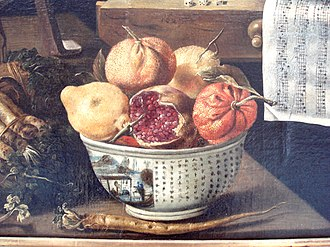 Chinese porcelain in European painting - Image: Jacques Linard Les cinq sens et les quatre elements 1627