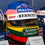 Jacques Villeneuve helmet 2017 Williams Conference Centre.jpg