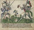 Jagiellonian Ms.Germ.Quart.16 (Gladiatoria) 07r - Longsword in armor.jpg
