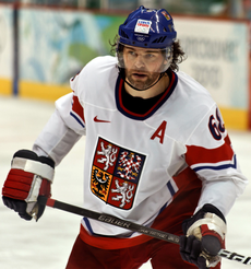 f5d2bb725dc Jágr at the 2010 Winter Olympics with the Czech Republic