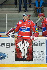Jakub Kovář - Lausanne Hockey Club vs. HC České Budějovice, 27.08.2010.jpg
