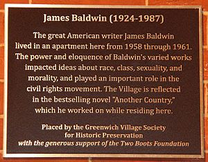 James Baldwin - Historic Plaque unveiled by Greenwich Village Society for Historic Preservation at 81 Horatio St. where James Baldwin lived in the late 1950s and early 1960s during one of his most prolific and creative periods