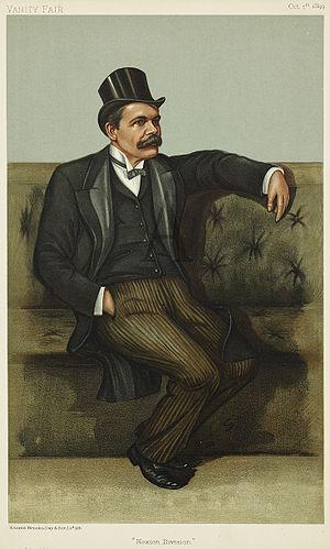 "James Stuart (scientist) - ""Hoxton Division"" Stuart as caricatured in Vanity Fair, October 1899"