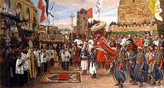 Latin Patriarchate of Jerusalem - Entry of the Latin Patriarch in Jerusalem (from James Tissot)