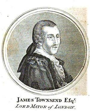 James Townsend (Lord Mayor of London) - James Townsend in 1772, from Gentleman's Magazine