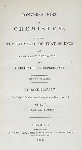 Jane Marcet - Conversations on Chemistry, Title page, Twelfth edition, 1832. Chemical Heritage Foundation