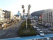 Japan National Route 438 Motomachi crossing at Tokushima city.JPG