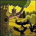 Jataka, Le conte de la chouette illustré par Yvain Coudert, 2013 - 2.jpg