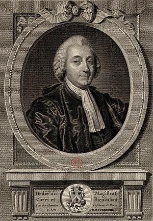 Jean-Charles-Pierre Lenoir - Portrait of Lenoir engraved by Juste Chevillet after a painting by Jean-Baptiste Greuze