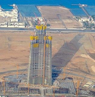 Jeddah Tower Skyscraper under construction in Jeddah, Saudi Arabia