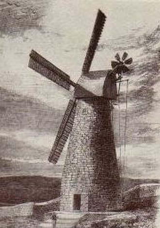 Montefiore Windmill - The mill in 1858
