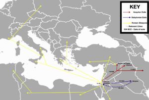 Jewish diaspora - Paths of Jewish deportation