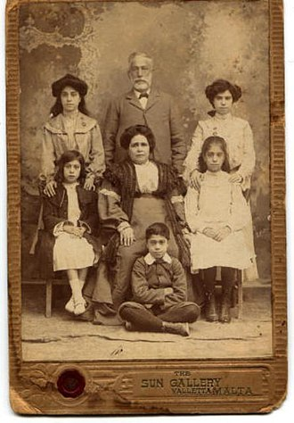 Jewish ethnic divisions - Maltese Jews in Valletta, 19th century