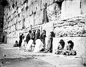 Jews at Western Wall by Felix Bonfils, 1870s