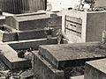 Jim Morrison's grave - Père Lachaise Cemetery BW.jpg