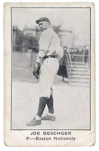 Joe Oeschger - Image: Joe Oeschger baseball card for Boston Nationals Uniform 1922