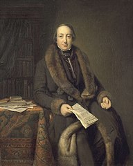 Portrait of Pieter Arnold Diederichs (1804-74), bookseller and founder AD in 1828