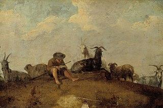 A shepherd reading