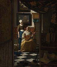 Johannes Vermeer - 'De liefdesbrief' - Google Art Project.jpg