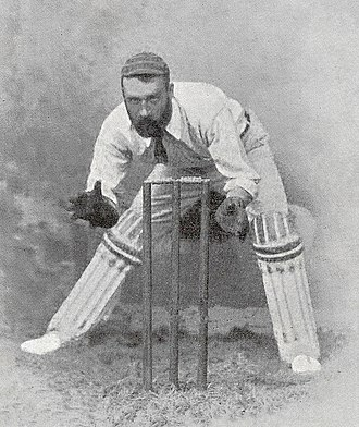 Jack Blackham - Blackham at the stumps