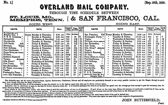 Butterfield Overland Mail Wikipedia