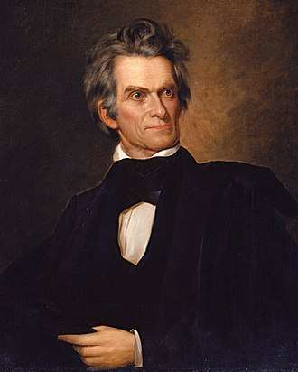 Yellowstone expedition - John C. Calhoun, depicted here in oil on canvas